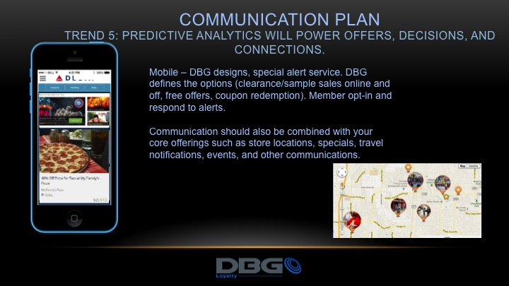 DBG Loyalty mobile solutions push special offers, notifications, and alerts