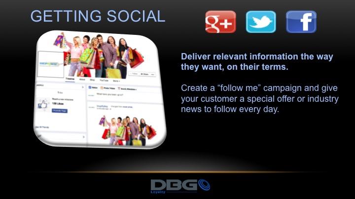 Getting social with dbg loyalty