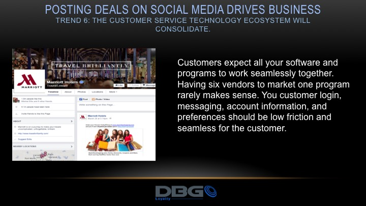 post communications and coupons on social media