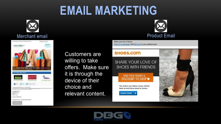 Email campaign share the love of shoes DBG