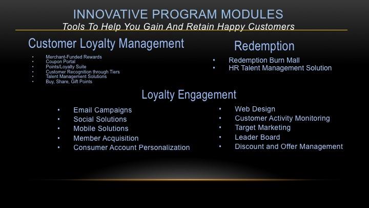 Loyalty and Rewards programs, points program, cash back program